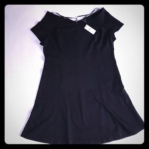 Ann Taylor solid Black knee length dress 16 NWT